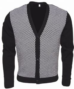 CHECKER 2 TONE CARDIGAN